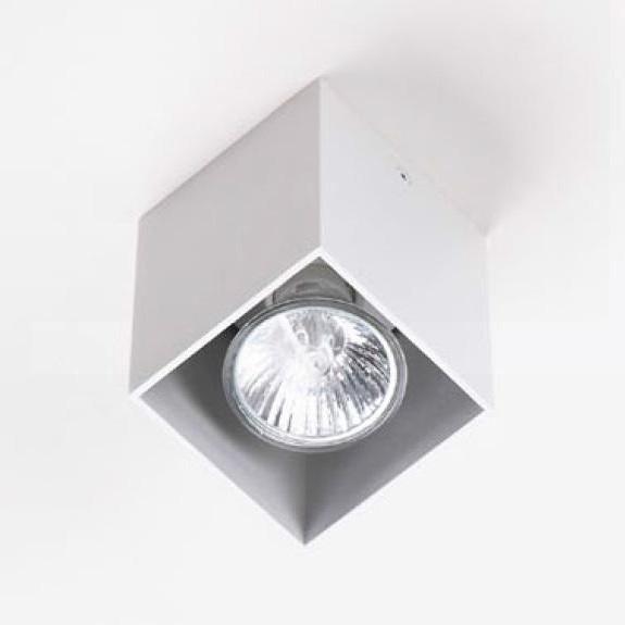 Plafonier, Spot aplicat alb, dim.7x7cm, PET SQUARE C0082 MX, Spoturi incastrate, aplicate - tavan / perete, Corpuri de iluminat, lustre, aplice a