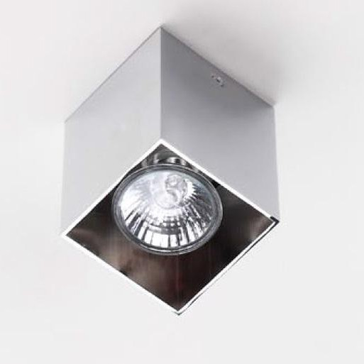 Plafonier, Spot aplicat crom, dim.7x7cm, PET SQUARE C0084 MX, Spoturi incastrate, aplicate - tavan / perete, Corpuri de iluminat, lustre, aplice, veioze, lampadare, plafoniere. Mobilier si decoratiuni, oglinzi, scaune, fotolii. Oferte speciale iluminat interior si exterior. Livram in toata tara.  a