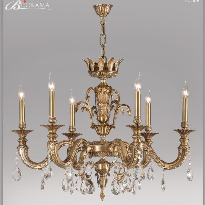 Candelabru LUX 6 brate fabricat manual, cristal Asfour, diam.96cm Venus 2724/6 Bejorama, Lustre Cristal Asfour 30% PBO,  a