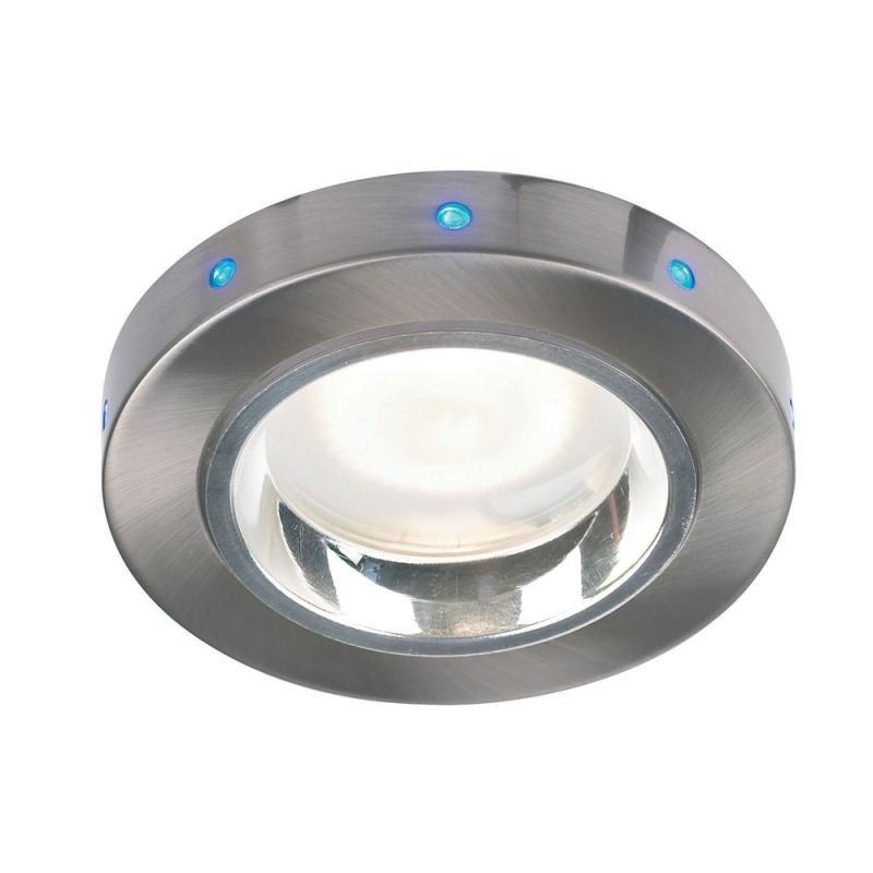 Spot incastrabil pt. baie cu LED-uri albastre, diam.9,9cm, IP44, EL-20017 EN, Spoturi incastrate, aplicate - tavan / perete, Corpuri de iluminat, lustre, aplice a
