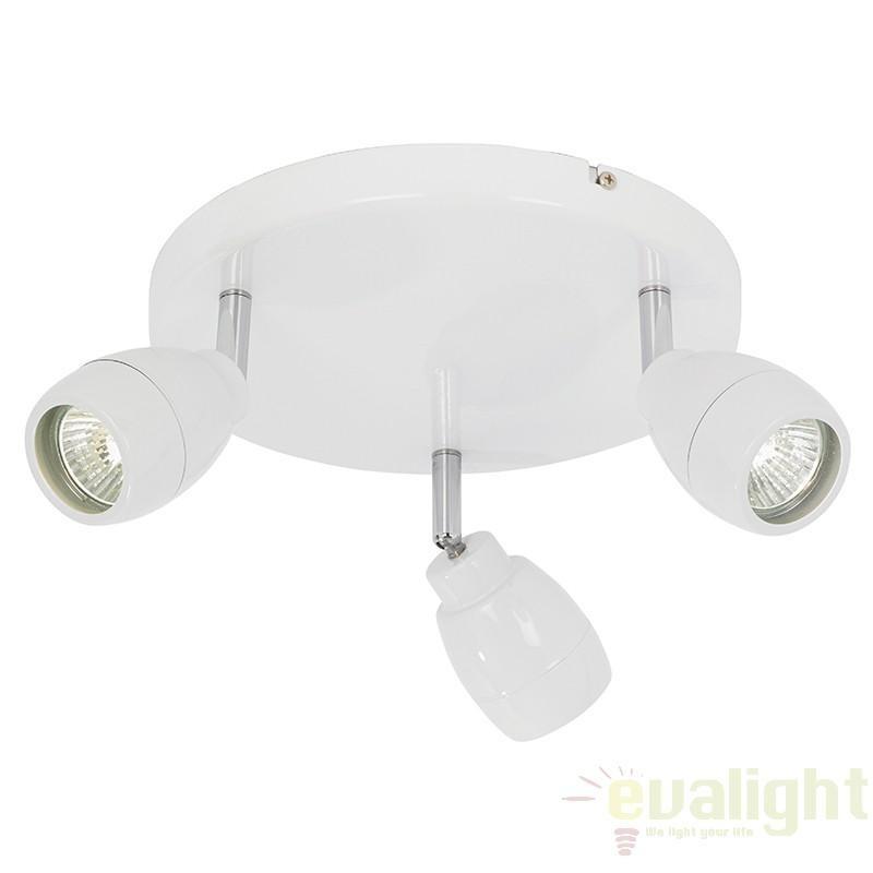 Plafonier pentru baie, IP44, design alb, spoturi directionabile EL-20095 EN, Plafoniere cu protectie pentru baie, Corpuri de iluminat, lustre, aplice a