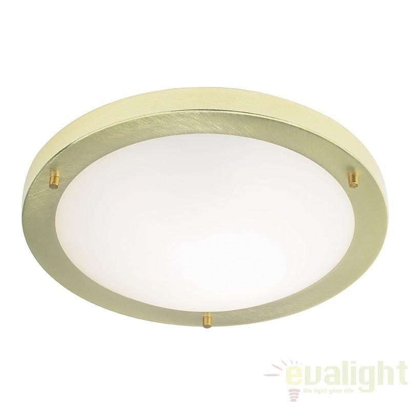 Plafonier pentru baie, diametru 31cm, IP44, brushed brass EL-440-30BB EN, Plafoniere cu protectie pentru baie, Corpuri de iluminat, lustre, aplice a