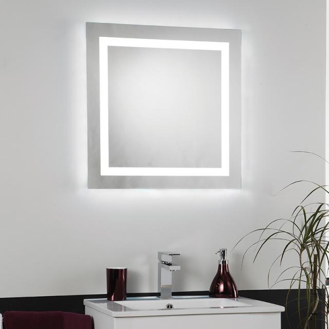 Oglinda pentru baie cu iluminat LED, protectie IP44, dim.60x60cm, EL-CABRERA EN  , Oglinzi pentru baie, Corpuri de iluminat, lustre, aplice a