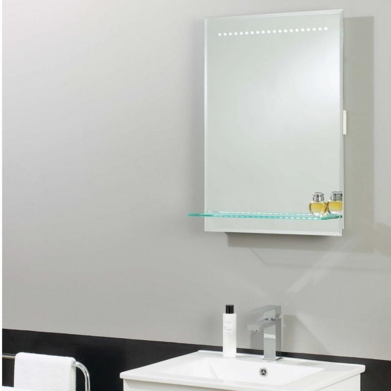 Oglinda pentru baie cu iluminat LED, protectie IP44, dim.50x70cm, EL-ELASA EN  , Oglinzi pentru baie, Corpuri de iluminat, lustre, aplice a