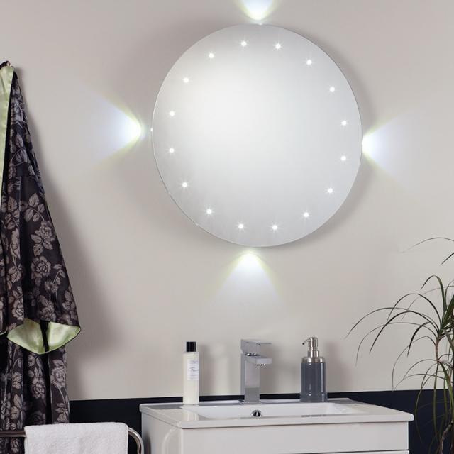 Oglinda pentru baie cu iluminat LED, protectie IP44, diam. 60cm, senzor miscare, EL-FORMENTERA EN , Oglinzi pentru baie, Corpuri de iluminat, lustre, aplice a
