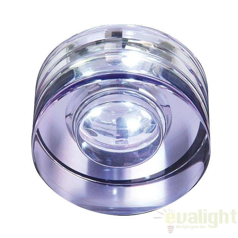 Spot incastrabil pt. baie, cabina dus, LED, diam.8cm, IP65, EL-IP-5500-CRY EN, Spoturi incastrate, aplicate - tavan / perete, Corpuri de iluminat, lustre, aplice a
