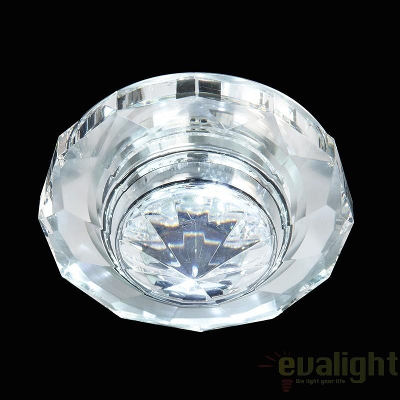 Spot incastrabil pt. baie, cabina dus, LED, diam.8cm, IP65, EL-IP-6000-CRY EN, Spoturi incastrate, aplicate - tavan / perete, Corpuri de iluminat, lustre, aplice a