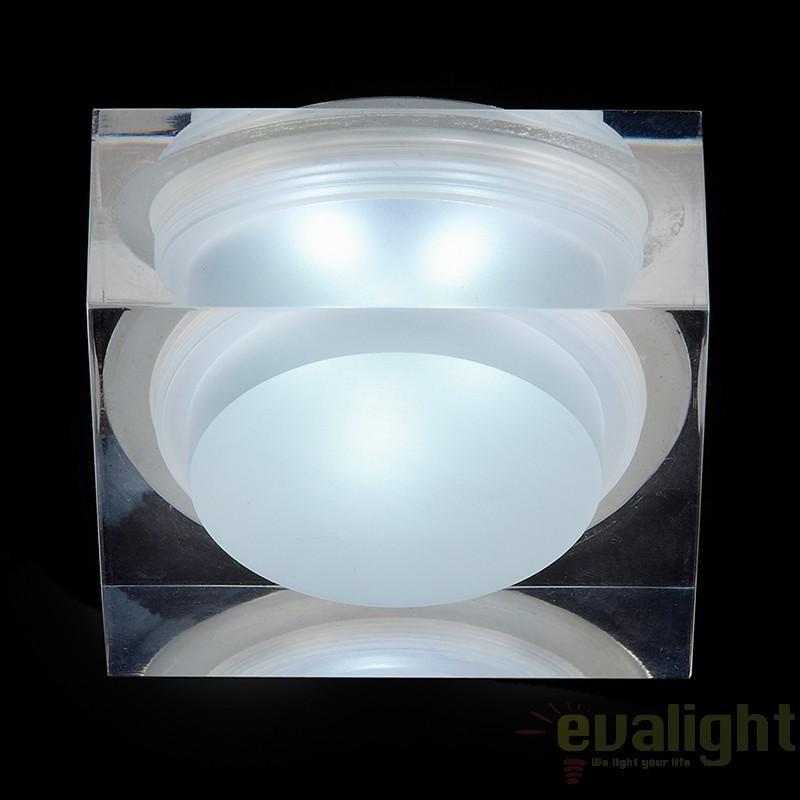 Spot incastrabil pt. baie, cabina dus, LED, dim.7x7cm, IP65, EL-IP-7000 EN, Spoturi incastrate, aplicate - tavan / perete, Corpuri de iluminat, lustre, aplice a