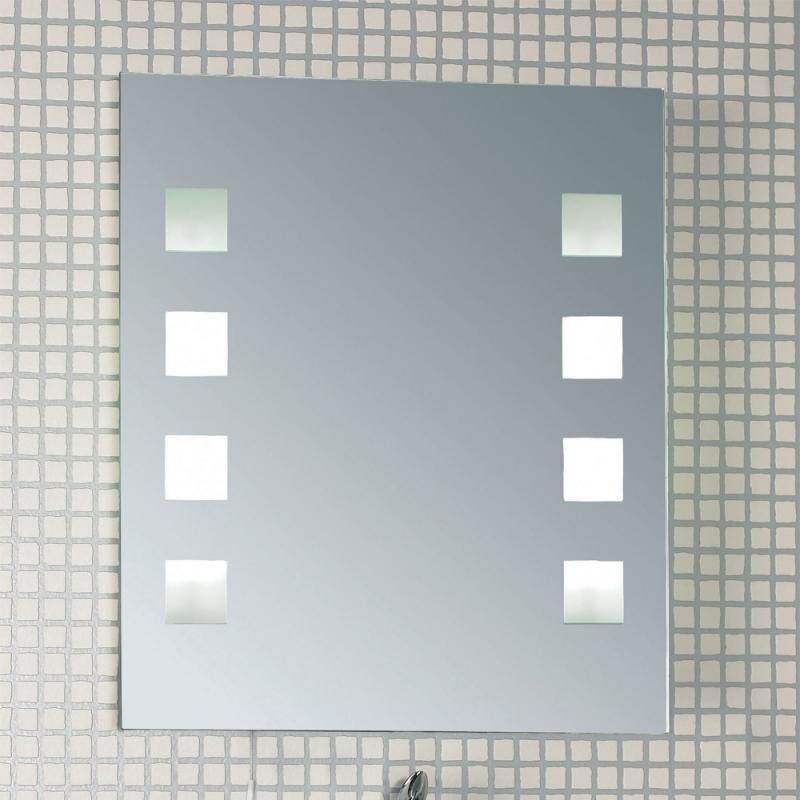 Oglinda pentru baie cu iluminat, protectie IP44, dim.53x45cm, EL-MURRAY EN , Oglinzi pentru baie, Corpuri de iluminat, lustre, aplice a