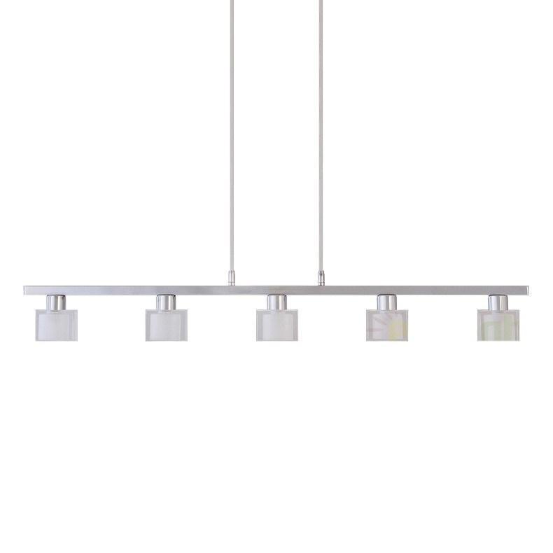 Lustra, Pendul modern cu 5 spoturi, L-84cm, Diamond 2965 RX, Spoturi - iluminat - cu 5 si 6 spoturi, Corpuri de iluminat, lustre, aplice a