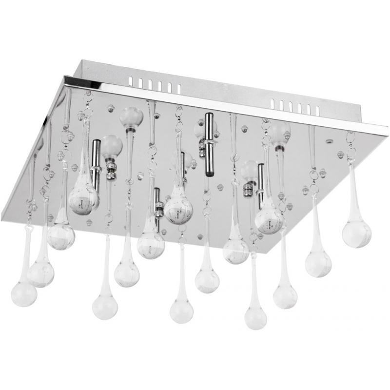 Plafonier dim.34x34cm, cu telecomanda si LED color change, Gleam 2861 RX, Lampi LED si Telecomanda, Corpuri de iluminat, lustre, aplice a