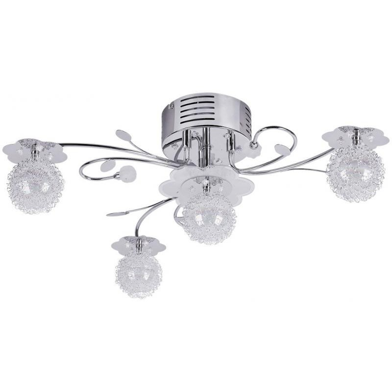 Lustra cu 4 brate, cu telecomanda si LED, Dorado 2853 RX, Lampi LED si Telecomanda, Corpuri de iluminat, lustre, aplice a
