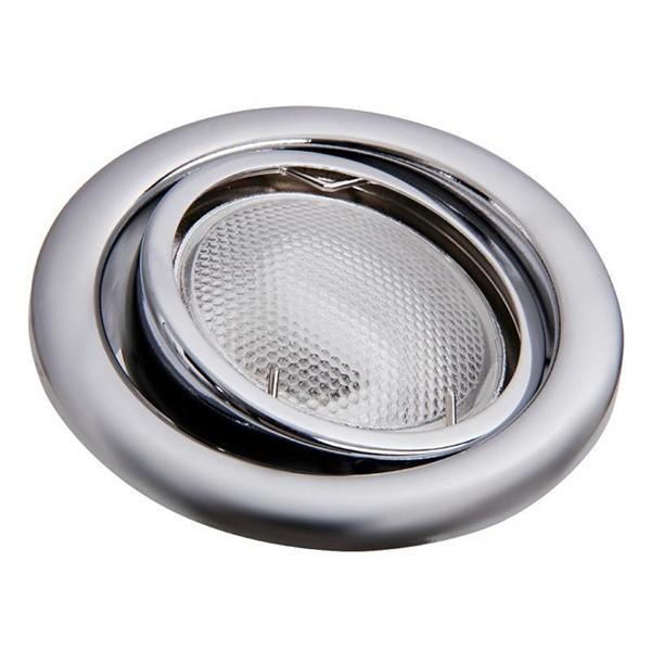 Set 3 spoturi directionabile, incastrabile pt. baie cromat, diam.8cm, IP40, Swing spot 1127 RX, Spoturi incastrate, aplicate - tavan / perete, Corpuri de iluminat, lustre, aplice a