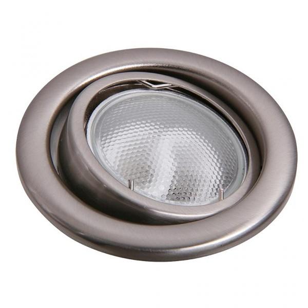 Set 3 spoturi directionabile, incastrabile pt. baie crom satinat, diam.8cm, IP40, Swing spot 1128 RX, Spoturi incastrate, aplicate - tavan / perete, Corpuri de iluminat, lustre, aplice a