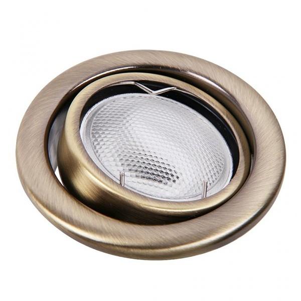 Set 3 spoturi directionabile, incastrabile pt. baie bronz, diam.8cm, IP40, Swing spot 1129 RX, Spoturi incastrate, aplicate - tavan / perete, Corpuri de iluminat, lustre, aplice a