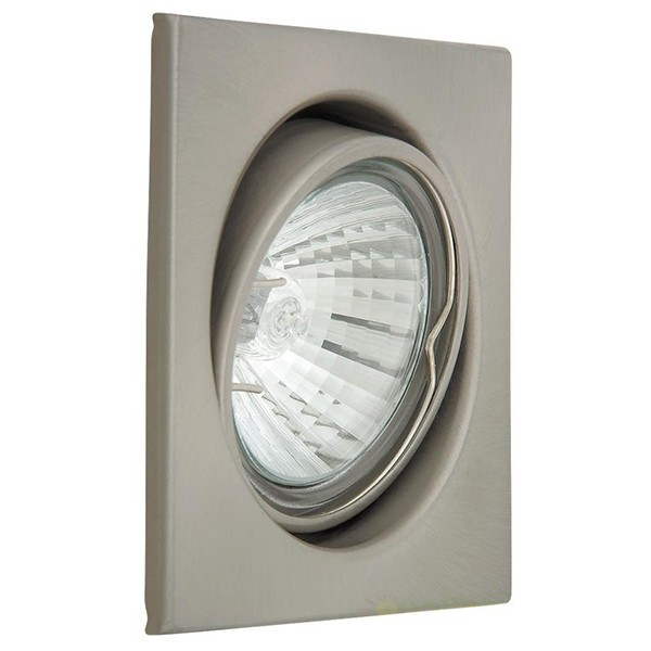 Set 3 spoturi directionabile, incastrabile pentru baie crom satinat, dim.8x8cm, IP40, Spot light 1134 RX, Spoturi incastrate, aplicate - tavan / perete, Corpuri de iluminat, lustre, aplice a