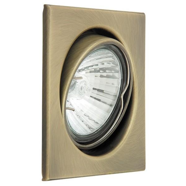 Set 3 spoturi directionabile, incastrabile pentru baie bronz, dim.8x8cm, IP40, Spot light 1135 RX, Spoturi incastrate, aplicate - tavan / perete, Corpuri de iluminat, lustre, aplice a