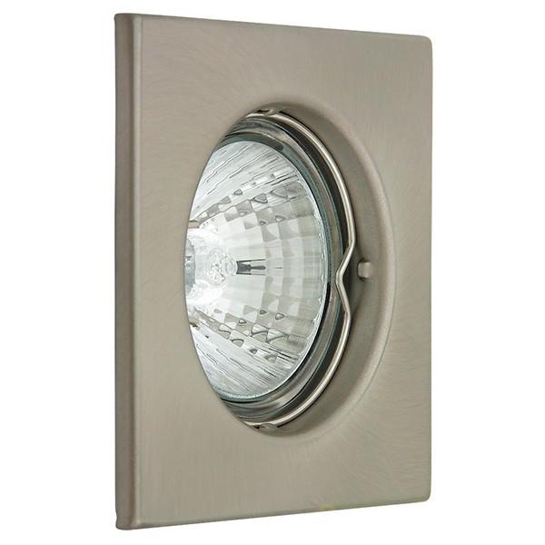Set 3 spoturi directionabile, incastrabile pentru baie crom satinat, dim.8x8cm, IP40, Spot light 1114 RX, Spoturi incastrate, aplicate - tavan / perete, Corpuri de iluminat, lustre, aplice a