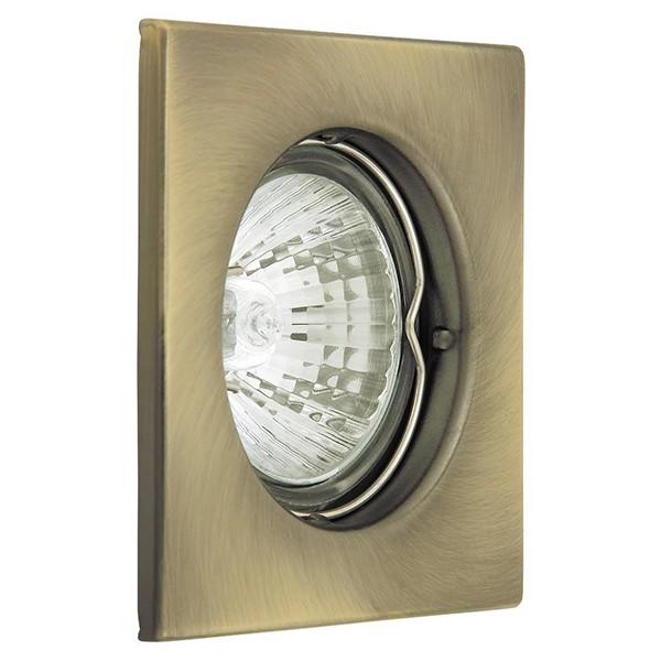 Set 3 spoturi directionabile, incastrabile pentru baie bronz, dim.8x8cm, IP40, Spot light 1115 RX, Spoturi incastrate, aplicate - tavan / perete, Corpuri de iluminat, lustre, aplice a
