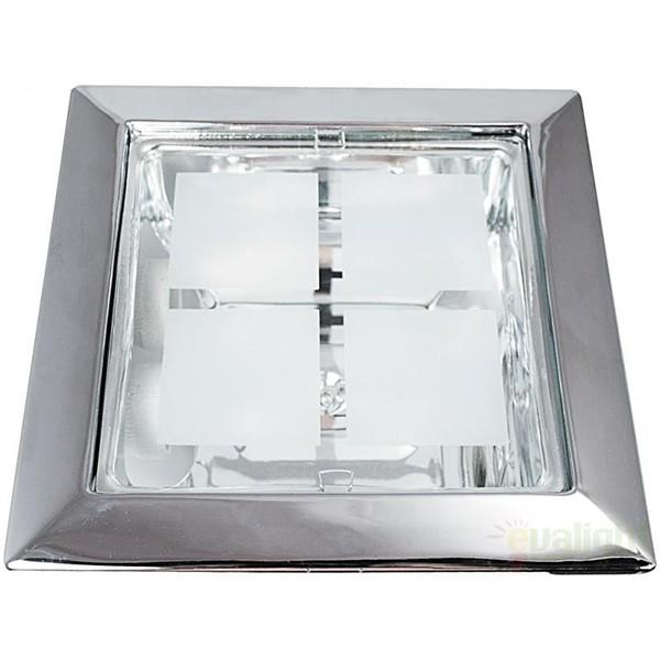 Spot incastrabil cromat, dim.23x23cm, Spot office 1150 RX, Spoturi incastrate, aplicate - tavan / perete, Corpuri de iluminat, lustre, aplice a