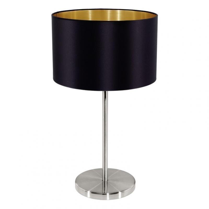 Veioza, lampa de masa negru/auriu, H-42cm, Maserlo 31627 EL, Magazin,  a