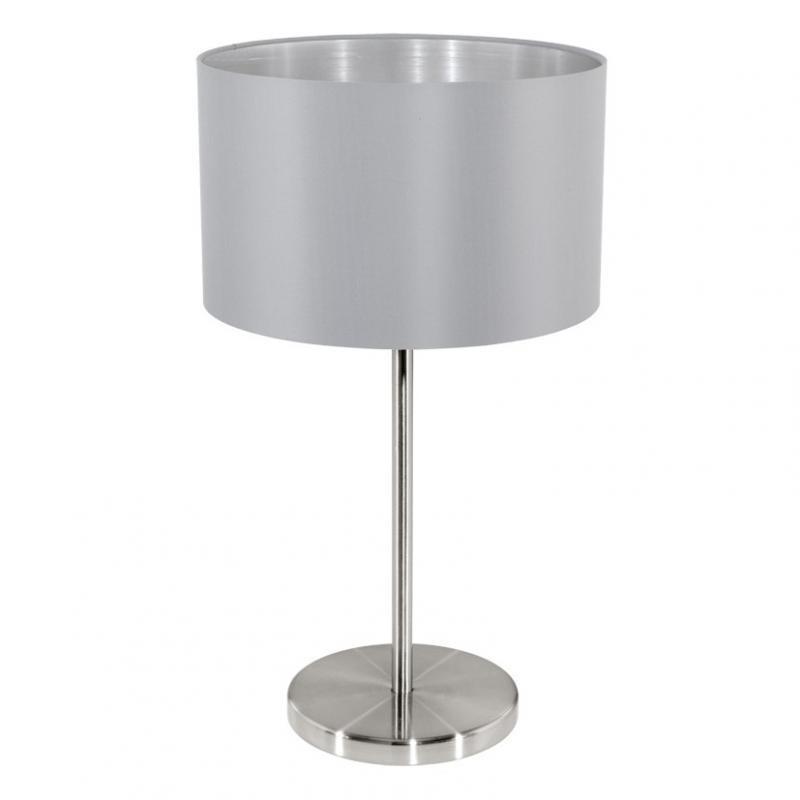Veioza, lampa de masa gri/argintiu, H-42cm, Maserlo 31628 EL,  a