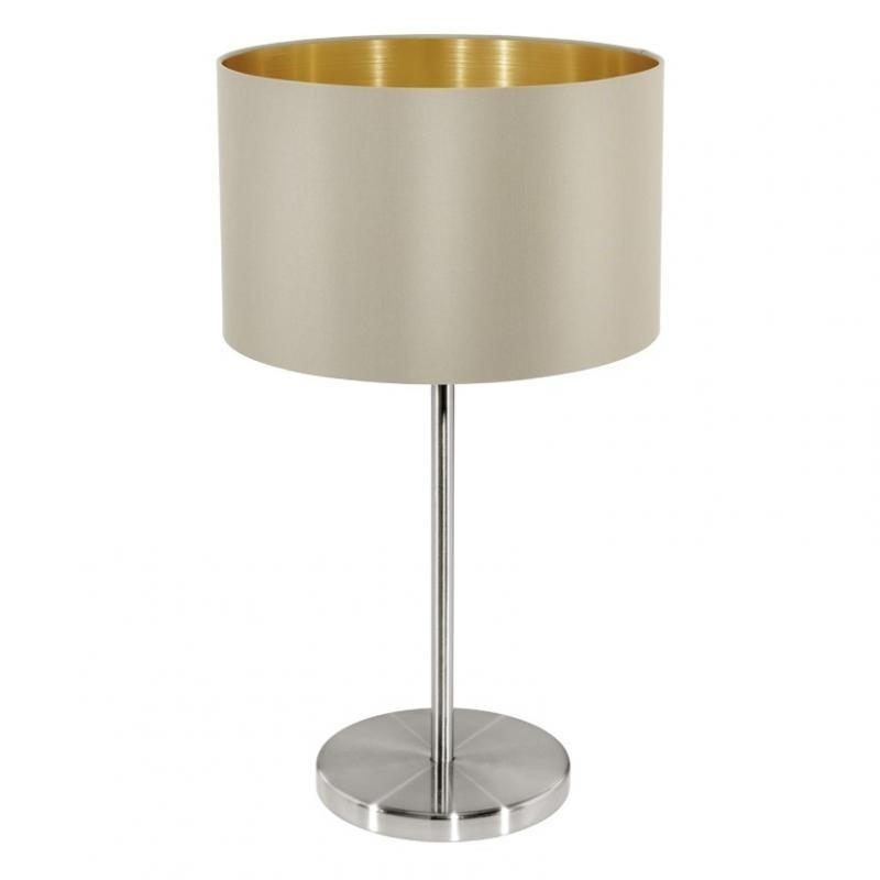 Veioza, lampa de masa gri/auriu, H-42cm, Maserlo 31629 EL, Magazin,  a