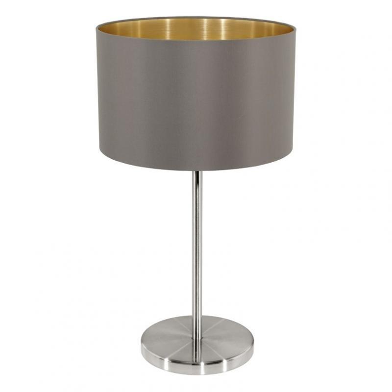 Veioza, lampa de masa cappucino/auriu, H-42cm, Maserlo 31631 EL, Magazin,  a
