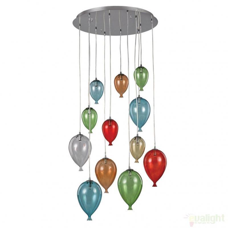 Lustra, Pendul modern diametru 60cm CLOWN SP12 COLOR 100951, Promotii si Reduceri⭐ Oferte ✅Corpuri de iluminat ✅Lustre ✅Mobila ✅Decoratiuni de interior si exterior.⭕Pret redus online➜Lichidari de stoc❗ Magazin ➽ www.evalight.ro. a