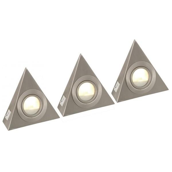 Spot cu interupator set de 3 buc. 1205-3, Spoturi incastrate, aplicate - tavan / perete, Corpuri de iluminat, lustre, aplice a