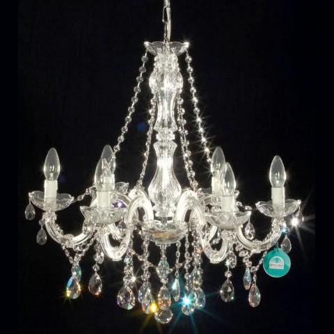 Lustra cristal Swarovski 6 brate diam. 60cm Melissa, Lustre Cristal Swarovski , Corpuri de iluminat, lustre, aplice a
