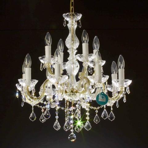 Candelabru cristal Swarovski 12 brate Rafaella, Lustre Cristal Swarovski , Corpuri de iluminat, lustre, aplice a