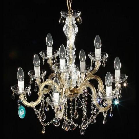 Lustra cristal Swarovski 9 brate argintiu sau auriu Katrin, Lustre Cristal Swarovski , Corpuri de iluminat, lustre, aplice a