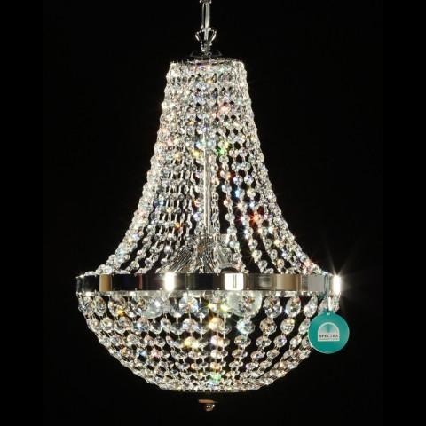 Lustra cristal Swarovski diametru 40cm silver Gisela, Lustre Cristal Swarovski , Corpuri de iluminat, lustre, aplice a