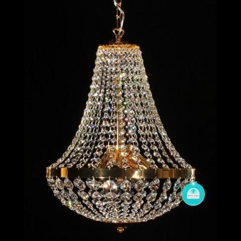 Lustra cristal Swarovski diametru 40cm gold Gisela I, Lustre Cristal Swarovski , Corpuri de iluminat, lustre, aplice a
