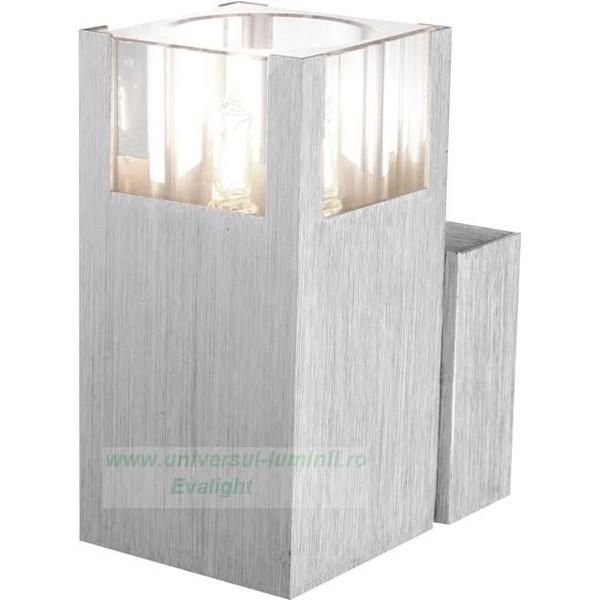 Aplica Aluminium Amoena 56444-1, Magazin, Corpuri de iluminat, lustre, aplice, veioze, lampadare, plafoniere. Mobilier si decoratiuni, oglinzi, scaune, fotolii. Oferte speciale iluminat interior si exterior. Livram in toata tara.  a