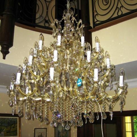 Candelabru cristal Swarovski 30 brate Catherine, Lustre Cristal Swarovski , Corpuri de iluminat, lustre, aplice a