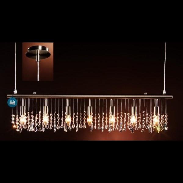 Pendul modern cristal Swarovski lungime 140cm Annina II, Lustre Cristal Swarovski , Corpuri de iluminat, lustre, aplice a