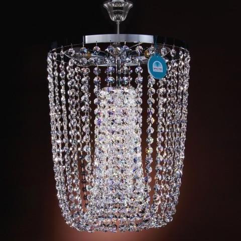 Plafonier diametru 40cm Cristal Swarovski Susel, Plafoniere Cristal Swarovski, Corpuri de iluminat, lustre, aplice a