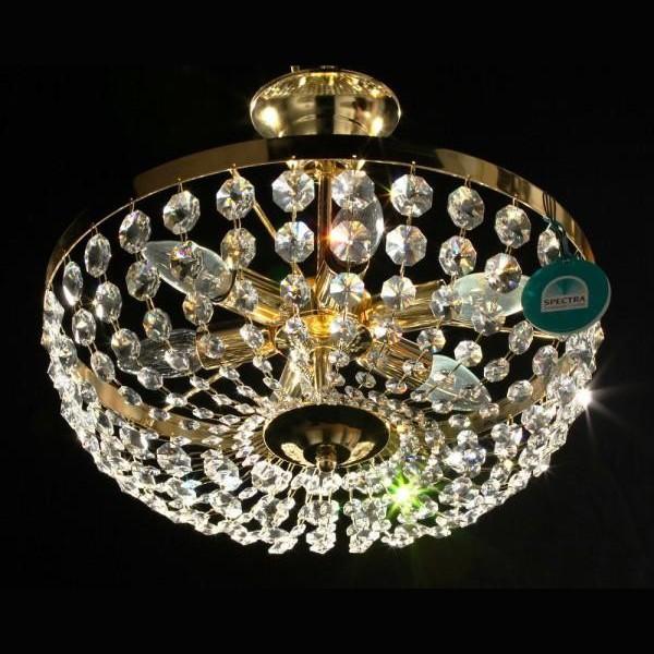 Plafonier diametru 40cm Cristal Swarovski Spectra Petra 40, Plafoniere Cristal Swarovski, Corpuri de iluminat, lustre, aplice a