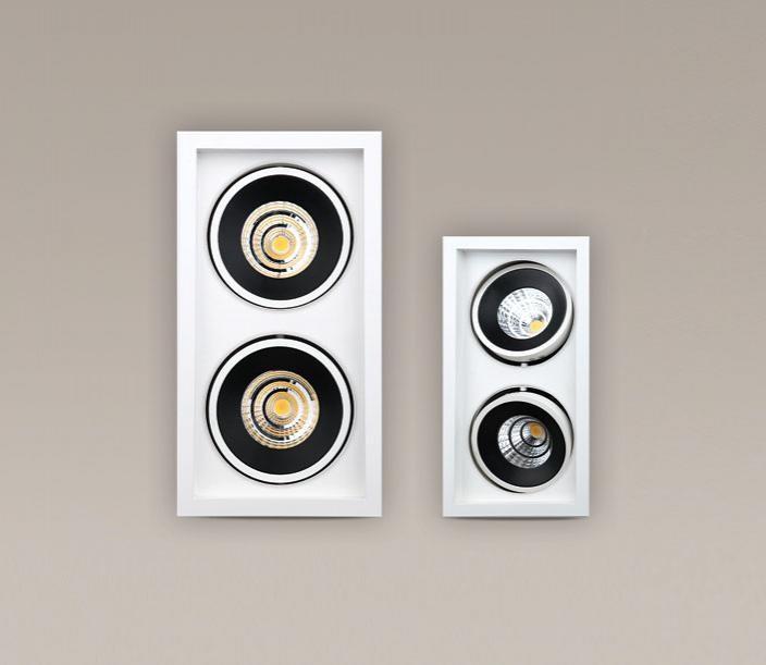 Spot alb directionabil, incastrabil, dim.16,8x32,3cm, LED Matchled II H0047 MX, Spoturi LED incastrate, aplicate, Corpuri de iluminat, lustre, aplice a