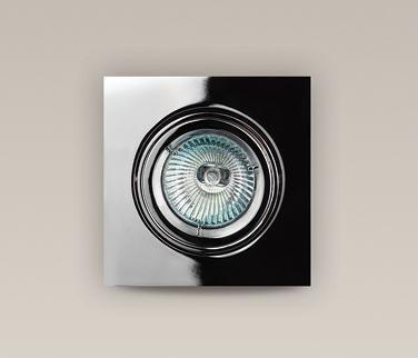 Spot incastrabil, nickel satinat, dim.9,5x9,5cm, H0040 MX, Spoturi incastrate, aplicate - tavan / perete, Corpuri de iluminat, lustre, aplice a