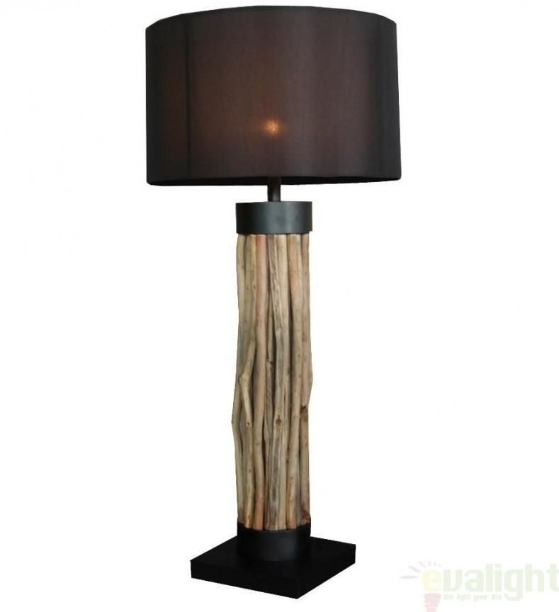 Veioza, lampa de masa, design etnic, H-100cm, Damas FL, Lampadare clasice, Corpuri de iluminat, lustre, aplice a