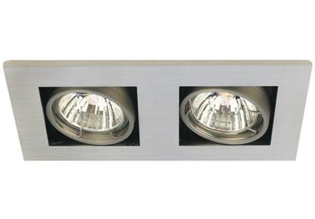 Spot orientabil incastrat Galilei 2-Spot aluminiu 21070129NL, Spoturi incastrate, aplicate - tavan / perete, Corpuri de iluminat, lustre, aplice a