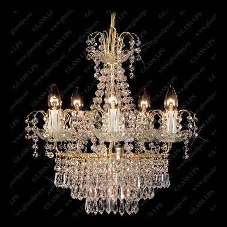 Candelabru, Lustra cristal Bohemia L15 268/06/3, Lustre Cristal Bohemia, Corpuri de iluminat, lustre, aplice a
