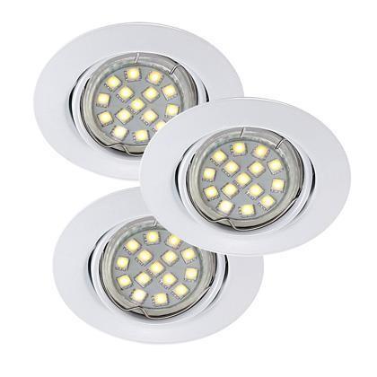 Set 3 spoturi orientabile incastrate Triton LED SMD alb 54360101NL, Spoturi LED incastrate, aplicate, Corpuri de iluminat, lustre, aplice a