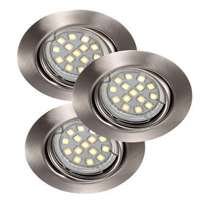 Set 3 spoturi orientabile incastrate Triton LED SMD BS 54360132NL, Spoturi LED incastrate, aplicate, Corpuri de iluminat, lustre, aplice a