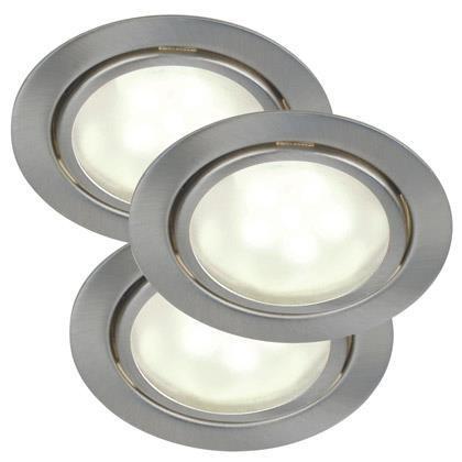 Set 3 spoturi incastrabile, IP44, G4 LED Mercur 76930132NL, Spoturi LED incastrate, aplicate, Corpuri de iluminat, lustre, aplice, veioze, lampadare, plafoniere. Mobilier si decoratiuni, oglinzi, scaune, fotolii. Oferte speciale iluminat interior si exterior. Livram in toata tara.  a