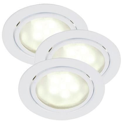 Set 3 spoturi incastrabile, IP44, G4 LED Mercur 76930101NL, Spoturi LED incastrate, aplicate, Corpuri de iluminat, lustre, aplice, veioze, lampadare, plafoniere. Mobilier si decoratiuni, oglinzi, scaune, fotolii. Oferte speciale iluminat interior si exterior. Livram in toata tara.  a