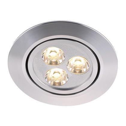 Spot orientabil incastrat LED Raven aluminiu 79000029NL, Spoturi LED incastrate, aplicate, Corpuri de iluminat, lustre, aplice a